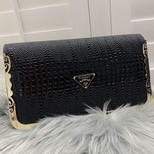 Handbags - Black crocodile skin crossbody bag